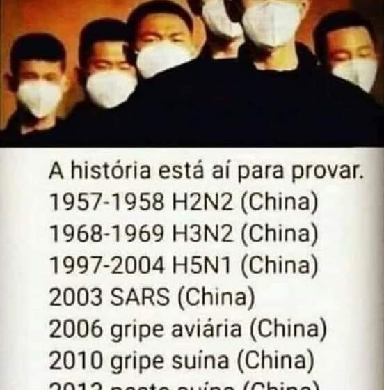 É falso que a China é o país de origem de todas as pandemias