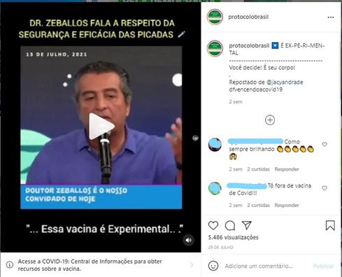 PERDEU A LINHA: Infectologista Roberto Zeballos põe em dúvida a eficácia das vacinas
